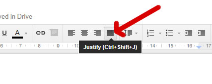 Justification in Google Drive / Docs Tutorial featured image