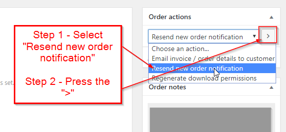 WooCommerce Re-Send New Order Notification Email to Admin