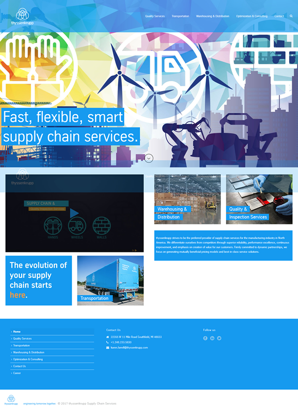 Case Study: Corporate Microsite for ThyssenKrupp Supply Chain featured image