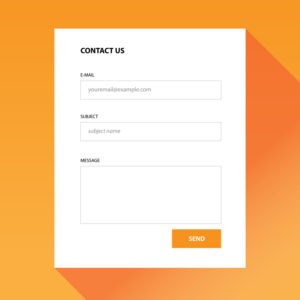 example contact form icon