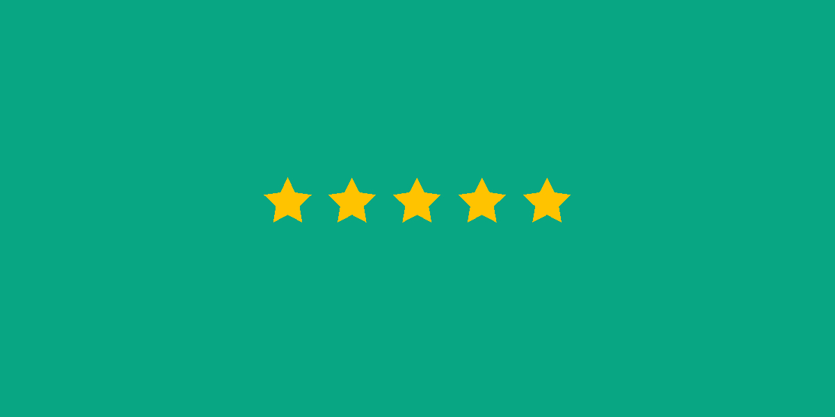 five yellow stars against a green background - related to schema and rich snippets