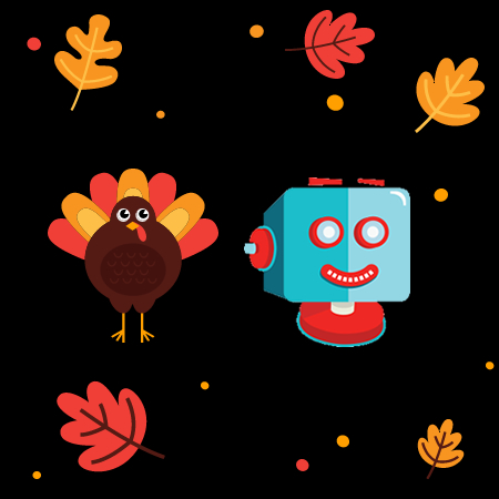 ShortPixel thanksgiving offer with turkey and shortpixel robot