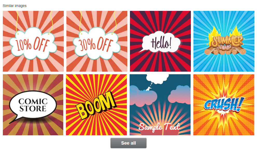 The similar images feature on Shutterstock