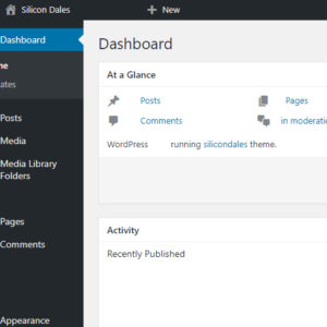 admin panel in WordPress