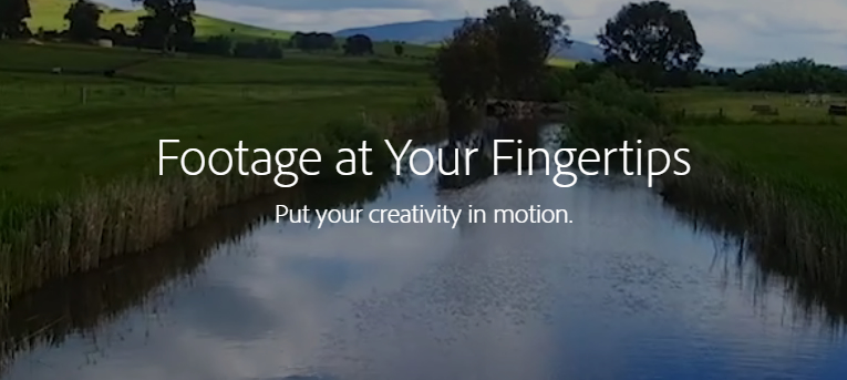 """Adobe imagery - """"footage at your fingertips"""""""