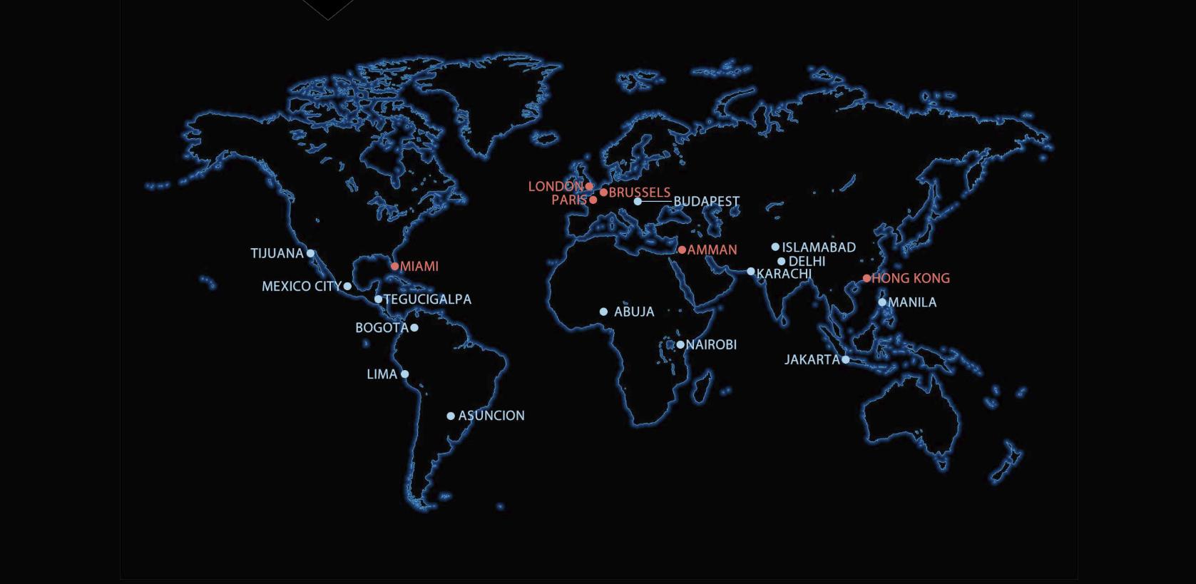 Interactive world map image
